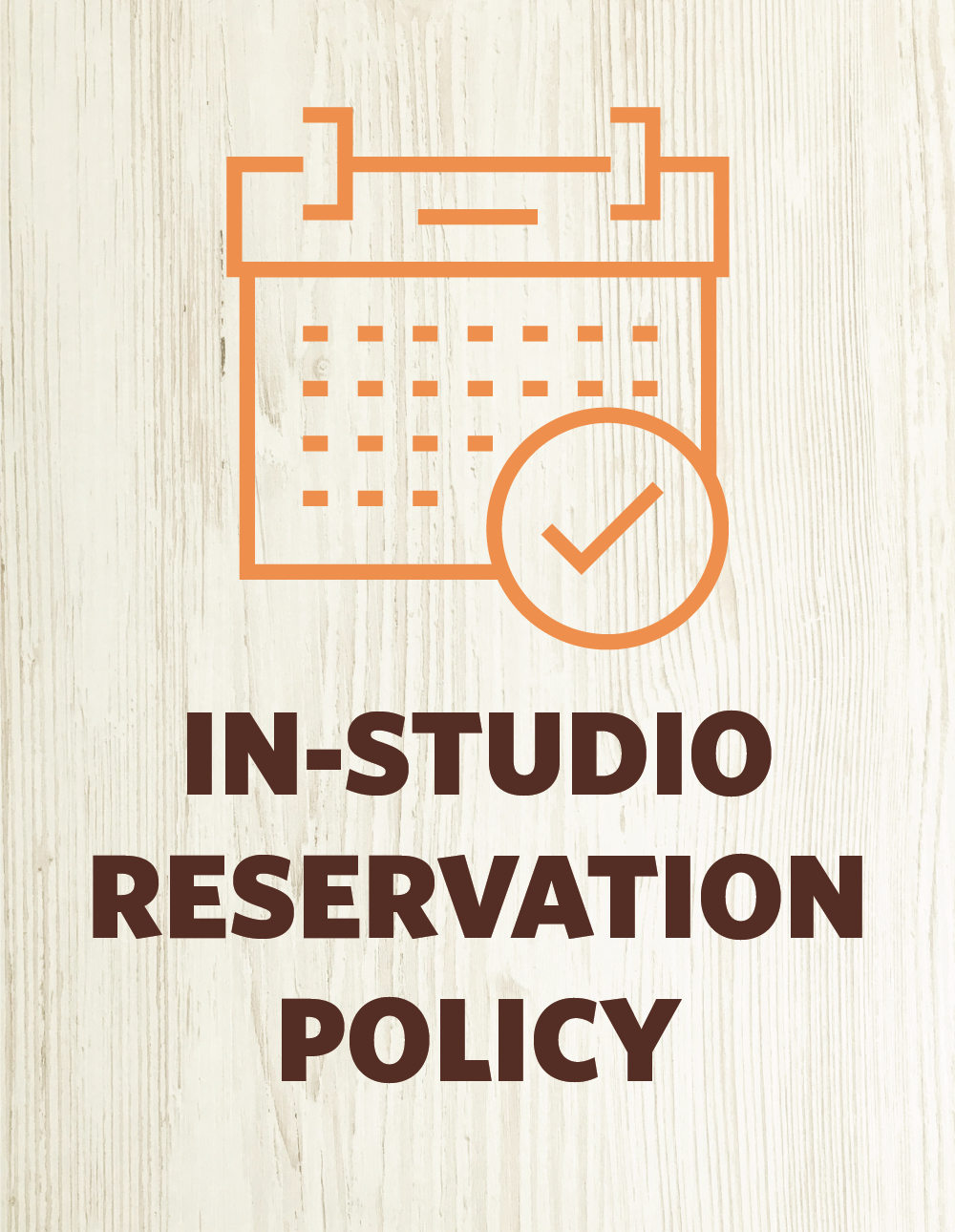 In-Studio Class Reservation Policy