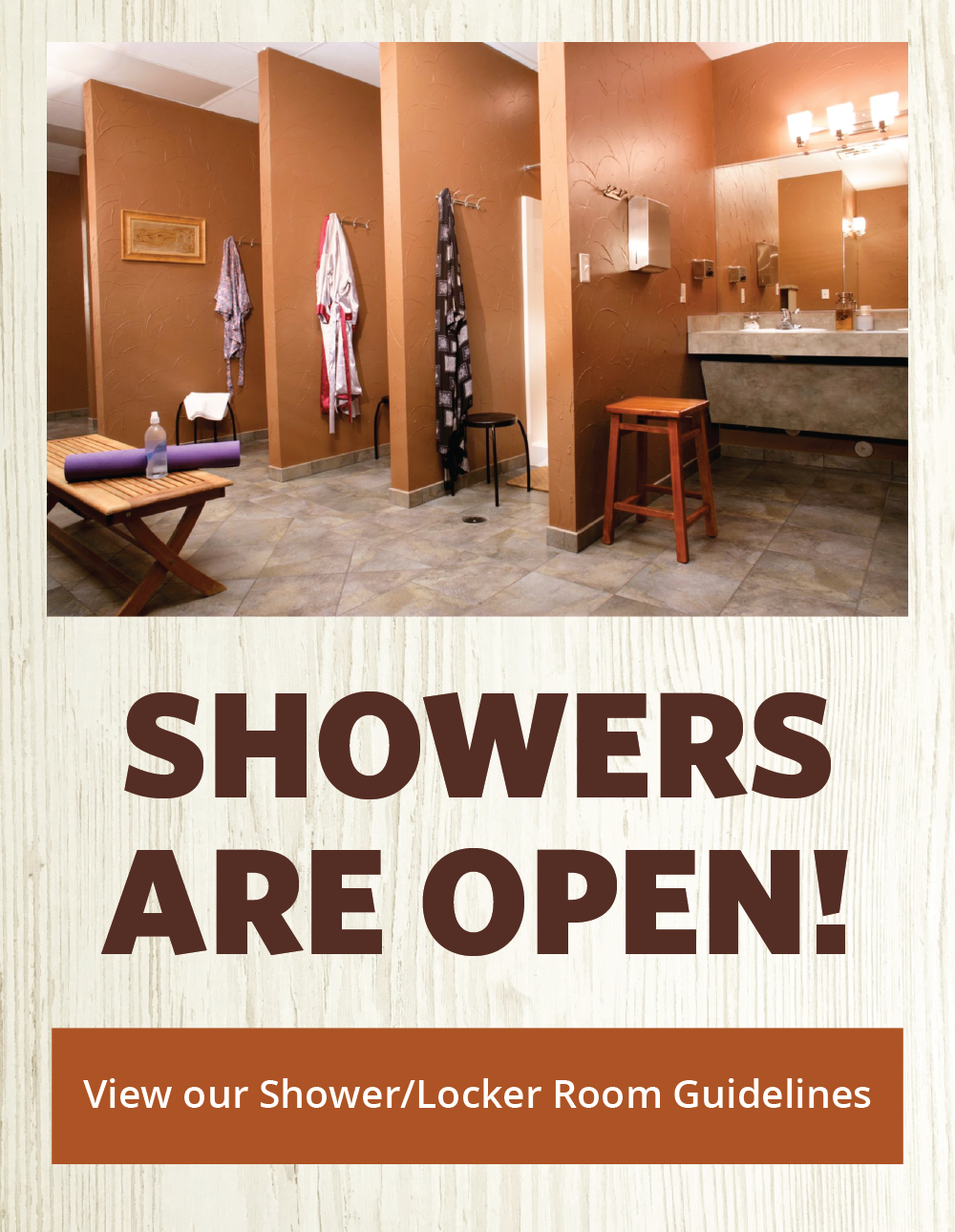 Showers are Open